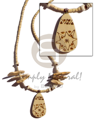 2-3 heishe natural burning Coco Necklace