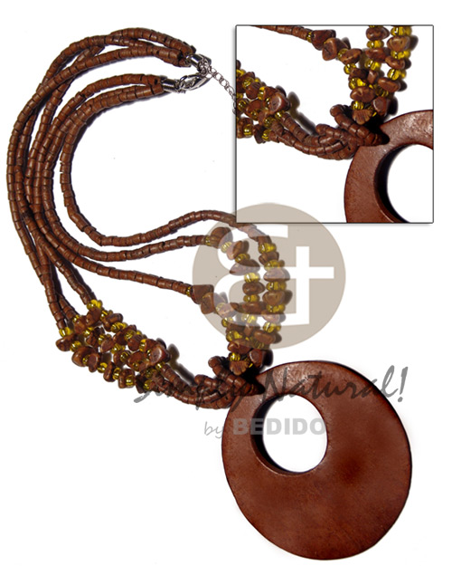 3 layers 2-3mm coco heishe Coco Necklace