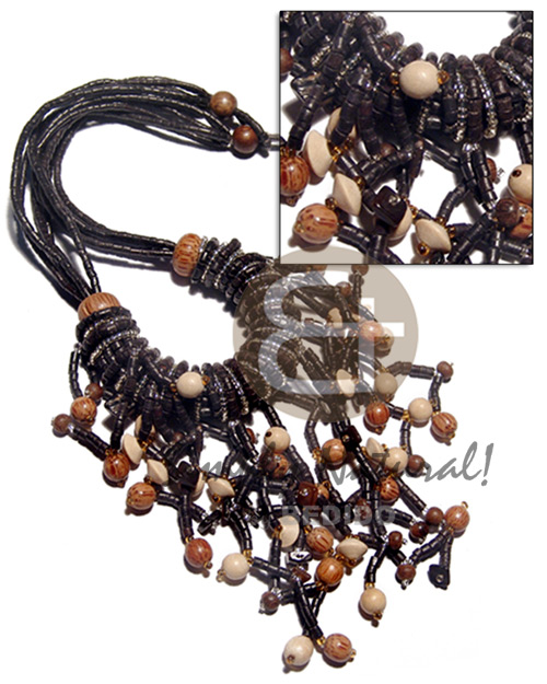 Cleopatra 5 rows 2-3mm Coco Necklace