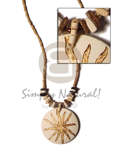 hand made 2-3mm coco heishe tiger Coco Necklace