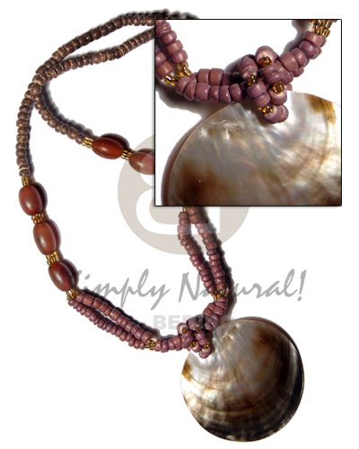 hand made 4-5mm nat brown coco pokalet Coco Necklace