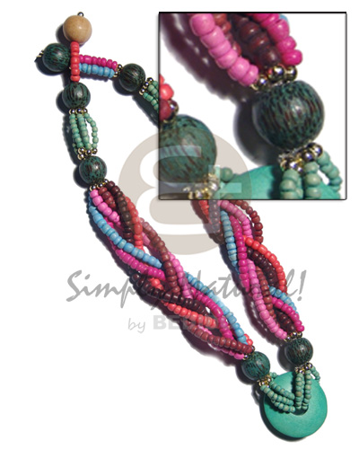 6 layers intertwined 4-5mm coco Coco Necklace