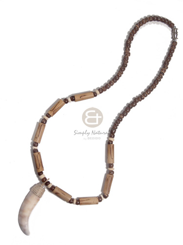 4-5mm coco pokalet nat brown Coco Necklace