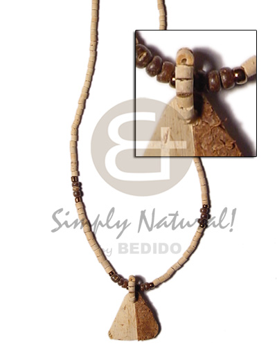 2-3mm coco heishe natural 2-3 Coco Necklace