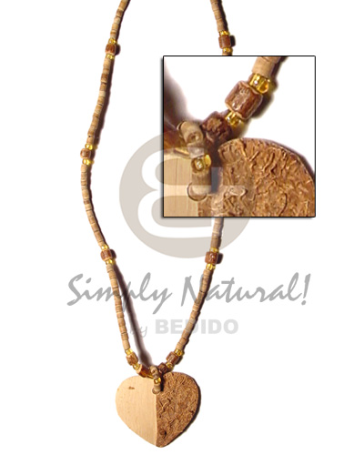 2-3mm coco heishe tiger sig-ed Coco Necklace