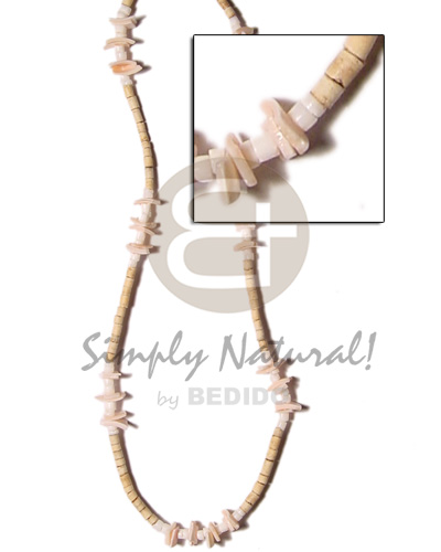 2-3 coco heishe natural Coco Necklace