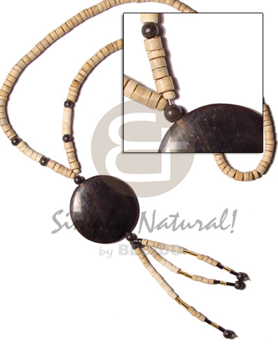 4-5 coco heishe nat wood Coco Necklace
