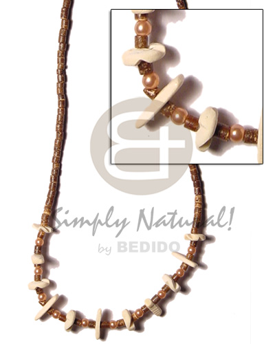 2-3 coco heishe brown Coco Necklace