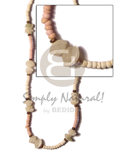 2-3 coco pokalet light peach bleach Coco Necklace