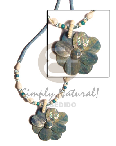 Pastel blue 2-3 coco heishe Coco Necklace