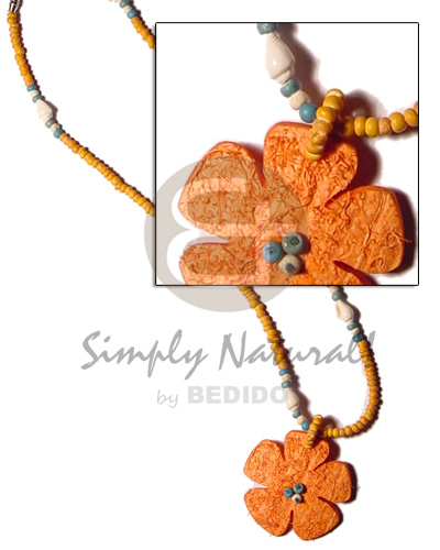 Orange coco pokalet 2-3mm Coco Necklace