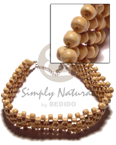 3 layer 4-5mm natural coco Coco Necklace