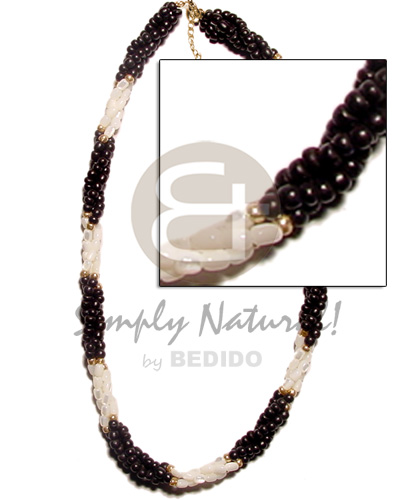Twisted black coco pokalet and Coco Necklace