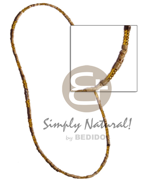 2-3mm coco heishe glass Coco Necklace