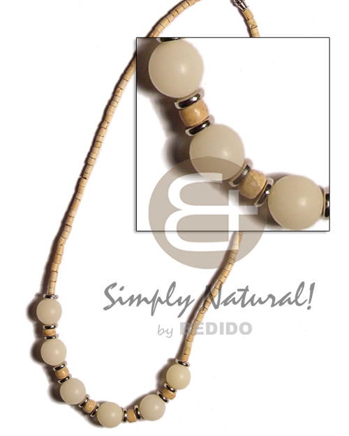 2-3 coco heishe natural white Coco Necklace