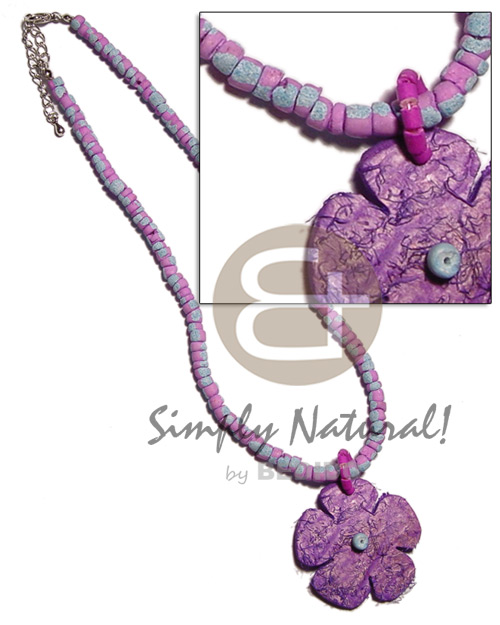 Lavender 4-5mm coco pokalet. splashing Coco Necklace