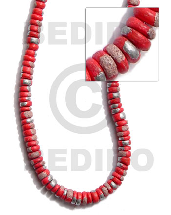 4-5mm coco pokalet. red Coco Splashing Beads