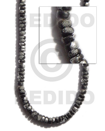 4-5mm coco pokalet. black Coco Splashing Beads