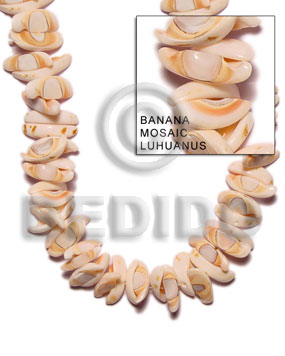 Banana mosaic - liswe Crazy Cut Shell Beads