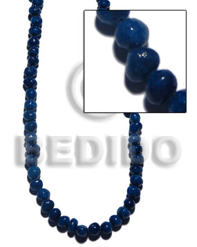Coral nuggets navy blue Crazy Cut Shell Beads
