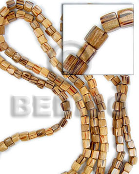 Dice palmwood 6x6mm Dice & Sided Wood Beads