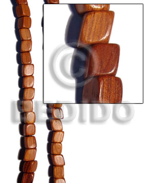 bayong slide cube 12mmx12mm - Dice & Sided Wood Beads