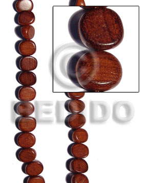 Bayong slice melon 15mmx13mmx20mm Dice & Sided Wood Beads
