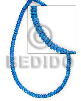 4-5 mm blue coco pokalet Dyed colored Coco beads
