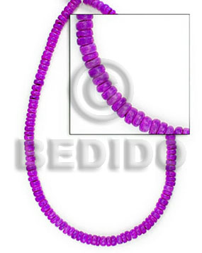 "4-5 mm ""lavender"" blue coco Dyed colored Coco beads"