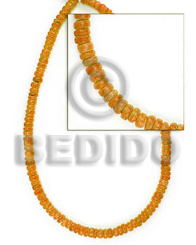 "4-5 mm ""orange"" coco Dyed colored Coco beads"