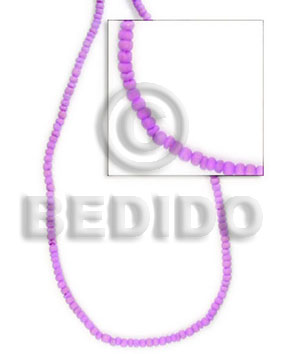 2-3 mm lavender coco pokalet Dyed colored Coco beads