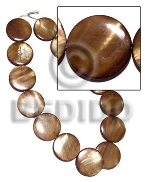 28mm round laminated high gloss Flat Round Oval Shell Beads