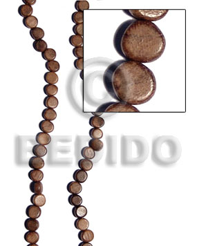 Robles flat round 10mmx5mm Flat Round & Oval Wood Beads