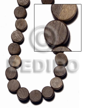 "hand made ""greywood"" sidedrill flat disc 5x10mm Flat Round & Oval Wood Beads"