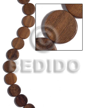 20mmx4mm robles flat round Flat Round & Oval Wood Beads