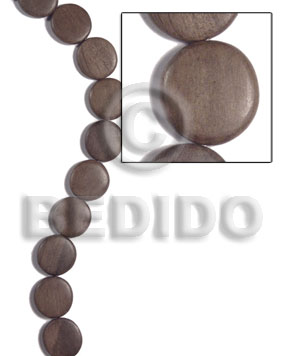 20mmx5mm greywood flat round Flat Round & Oval Wood Beads