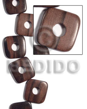 35mmx35mmx5mm square round edges Flat Square Wood Beads