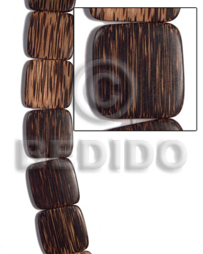 35mmx35mmx5mm patikan face to face Flat Square Wood Beads