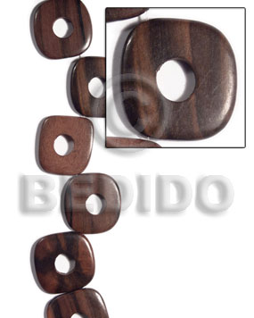 35mmx35mmx5mm uneven square round Flat Square Wood Beads
