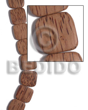 25mmx25mmx5mm palmwood face to face flat square  rounded edges / 16pcs - Flat Square Wood Beads