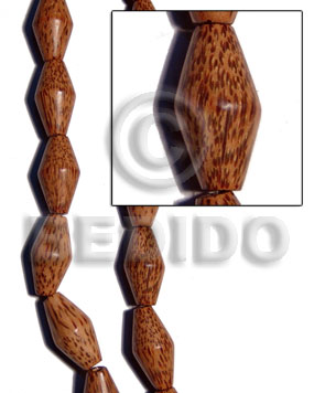 Palmwood football 35mmx18mm Football & Cylinder Wood Beads