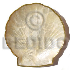 Capiz clam shaped plate 6x6 Gifts & Home Table Decor Set