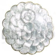 Capiz round scallop placemat Gifts & Home Table Decor Set