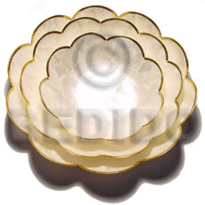 Capiz round scallop bowl Gifts & Home Table Decor Set