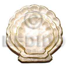 Capiz round scallop fruit tray Gifts & Home Table Decor Set