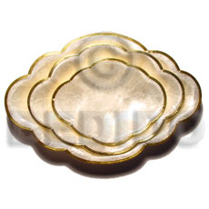 Capiz oval scallop edge small Gifts & Home Table Decor Set