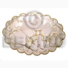 Oval capiz scallop placemat Gifts & Home Table Decor Set