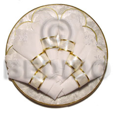 "Round capiz placemat 12"" Gifts & Home Table Decor Set"