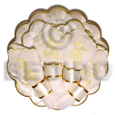 Round scallop capiz set Gifts & Home Table Decor Set