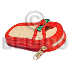 Pandan red slipper coin purse Gifts & Home Table Decor Set